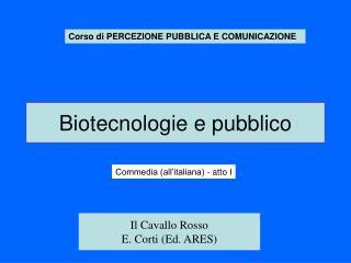 Biotecnologie e pubblico