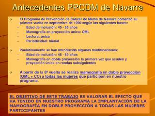 Antecedentes PPCDM de Navarra