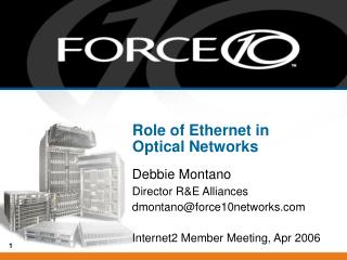 Role of Ethernet in Optical Networks