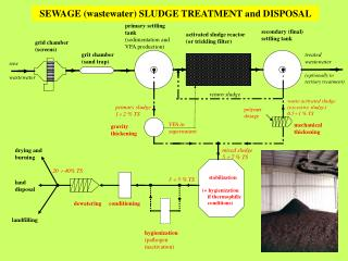 SEWAGE (wastewater) SLUDGE TREATMENT and DISPOSAL