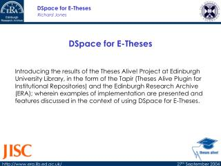 DSpace for E-Theses