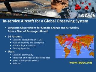 In-service Aircraft for a Global Observing System