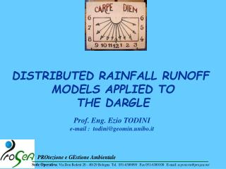 DISTRIBUTED RAINFALL RUNOFF  MODELS APPLIED TO THE DARGLE