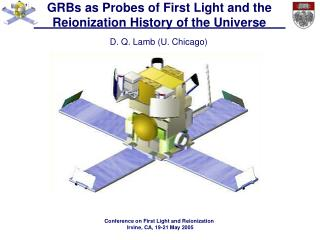 GRBs as Probes of First Light and the Reionization History of the Universe