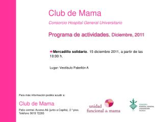Club de Mama Consorcio Hospital General Universitario
