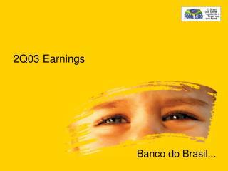 2Q03 Earnings