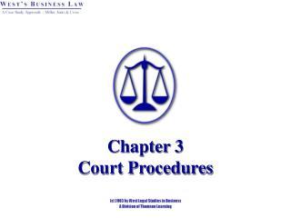 Chapter 3 Court Procedures