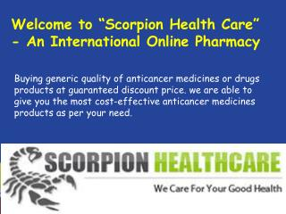 Buy Generic Anti Cancer Care Drugs Online