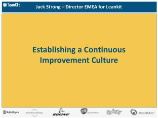 Establishing a Continuous Improvement Culture