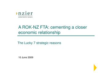 A ROK-NZ FTA: cementing a closer economic relationship