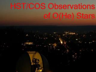 HST/COS Observations of O(He) Stars