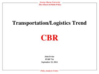 Transportation/Logistics Trend  CBR