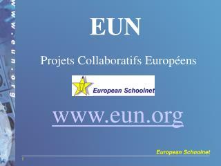 EUN Projets Collaboratifs Européens