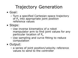Trajectory Generation