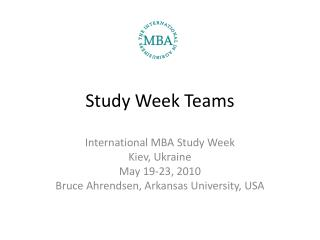 Study Week Teams
