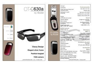Classy Design  Elegant silver frame  Fashion keypad  VGA camera