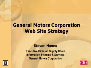 General Motors Corporation Web Site Strategy
