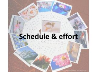 Schedule & effort