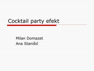Cocktail party efekt