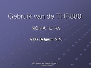 Gebruik van de THR880i