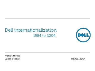 Dell internationalization  		1984 to 2004