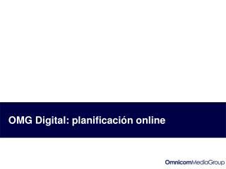 OMG Digital: planificación online