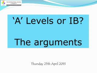 Thursday 25th April 2013