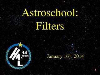 Astroschool : Filters