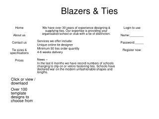 Blazers & Ties