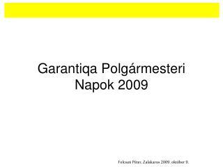 Garantiqa Polgármesteri Napok 2009