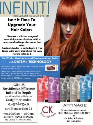 JOIN US The Affinage Difference   Infiniti In Depth with Affinage National Educator