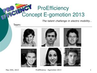 ProEfficiency  Concept E-gomotion 2013