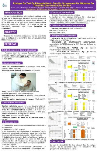 1. Indication du test dans le laboratoire