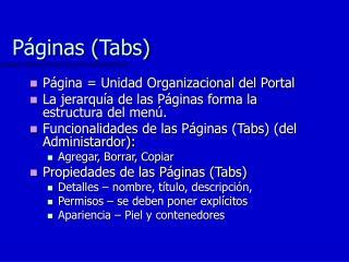 Páginas (Tabs)