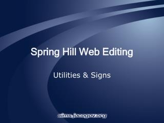 Spring Hill Web Editing