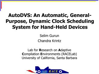 AutoDVS: An Automatic, General-Purpose, Dynamic Clock Scheduling System for Hand-Held Devices