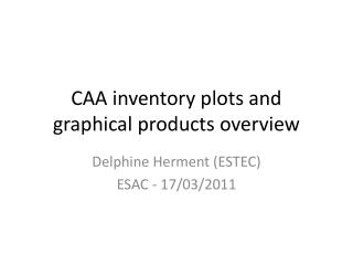 CAA inventory plots and graphical products overview
