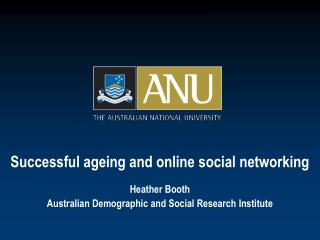 Successful ageing and online social networking