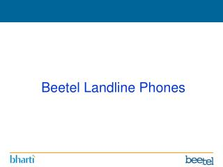 Beetel Landline Phones