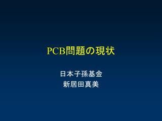 PCB 問題の現状
