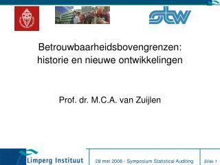 Betrouwbaarheidsbovengrenzen: historie en nieuwe ontwikkelingen