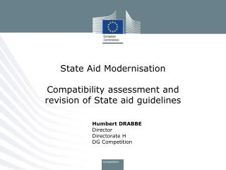 State Aid Modernisation Compatibility assessment and revision of State aid guidelines
