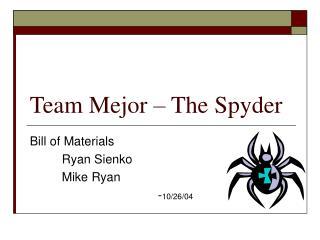 Team Mejor – The Spyder
