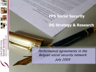 FPS Social Security DG Strategy & Research