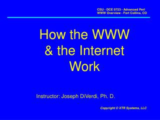 How the WWW & the Internet Work