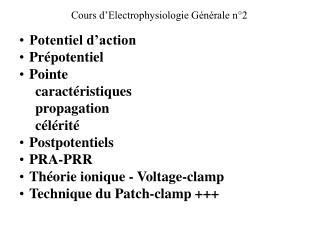 Cours d��lectrophysiologie n�2