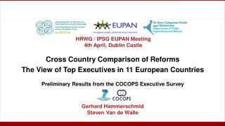 Cross Country  Comparison of Reforms The View  of  Top  Executives  in 11 European Countries