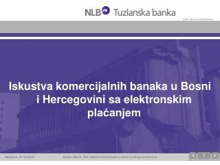 Iskustva komercijalnih banaka u Bosni i Hercegovini sa elektronskim plaćanjem