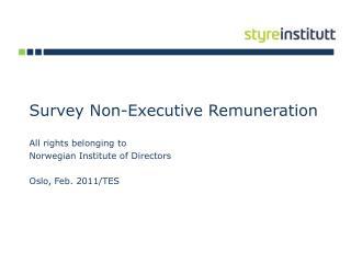 Survey  Non-Executive Remuneration