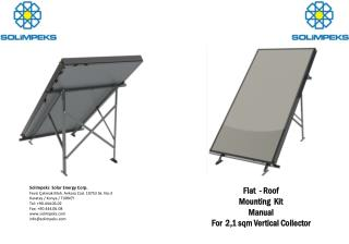 Flat -  Roof Mounting Kit  Manual For 2,1  sqm Vertical Collector